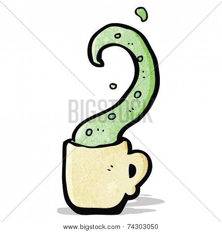 cartoon tentacle in teacup