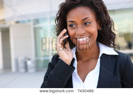 Pretty Business Woman On Phone