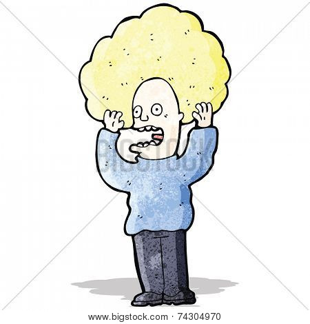 cartoon hair raising fright
