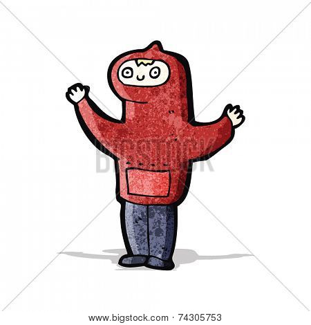 cartoon boy in hooded sweatshirt