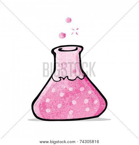 cartoon pink potion