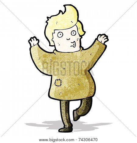cartoon boy in rags