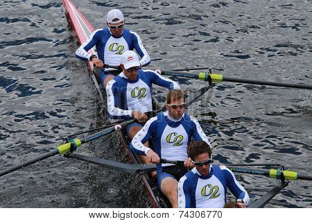 Cambridge Boat Club races in the Head of Charles Regatta Men's Championship Eights,