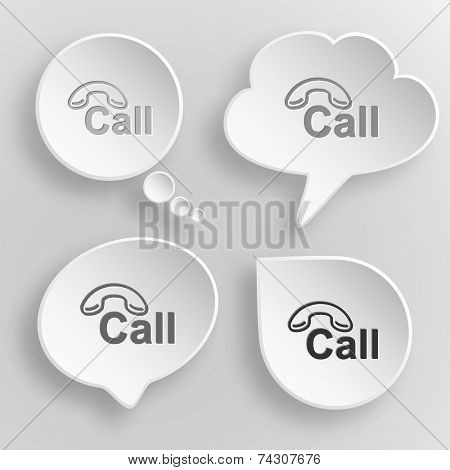 Hotline. White flat raster buttons on gray background.