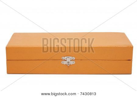 Old Box Isolated On A White Background.