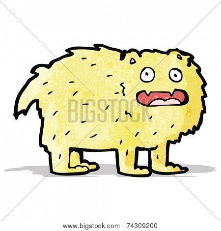 cartoon hairy beast