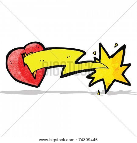 love struck heart cartoon