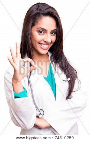Doctor Doing Ok Sign