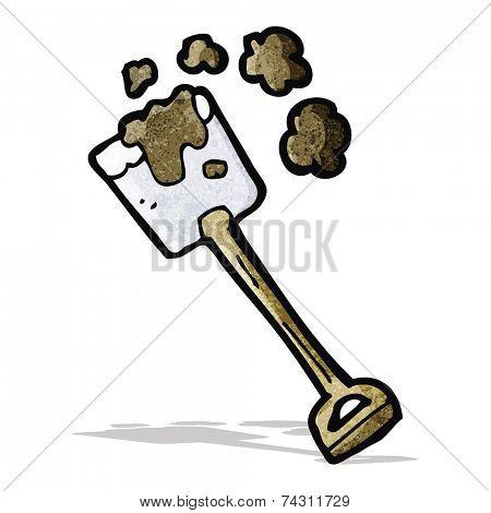 cartoon digging spade
