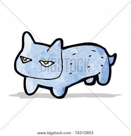 grumpy cartoon cat
