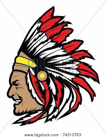 apache head symbol Vector