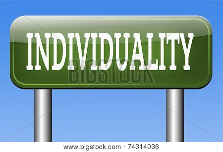 individuality individual freedom stand out from crowd being different having a unique personality be one of a kind and unique personal development and existence