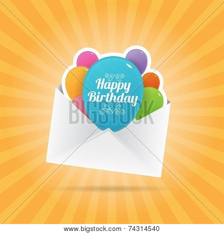 Birthday Balloon Envelope