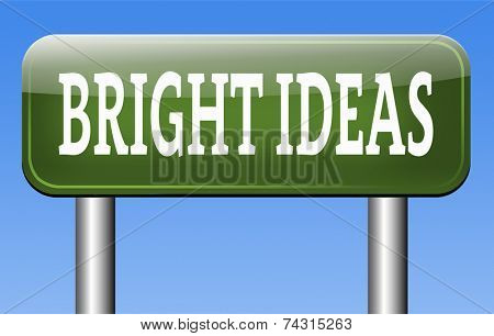 bright new ideas brilliant innovation and idea start brainstorm and explore creativity