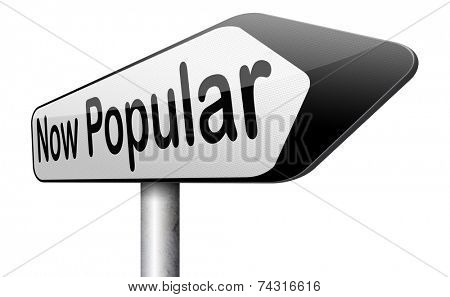 now popular lastest fashion trend trending product or activity road sign arrow