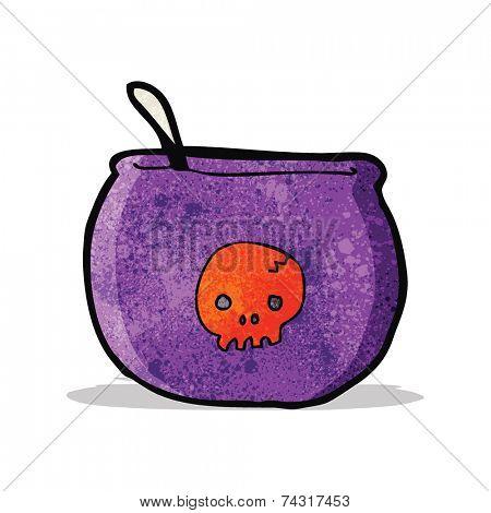 cartoon spooky cauldron