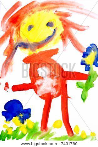 Children's Drawing Water Color Paints