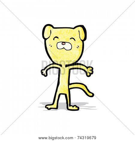 cartoon skinny dog