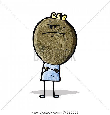 cartoon grumpy doodle man