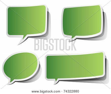 Green Peeling Speech Bubbles