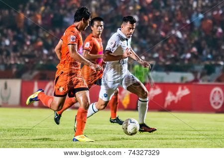 Sisaket Thailand-october 15: Javier Patino Of Buriram Utd. In Action During Thai Premier League Betw
