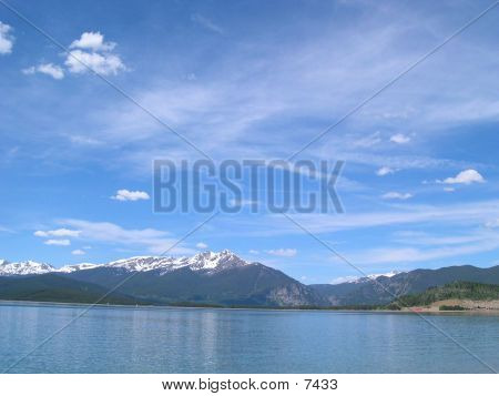 Lake Dillon With Cirrus Clouds