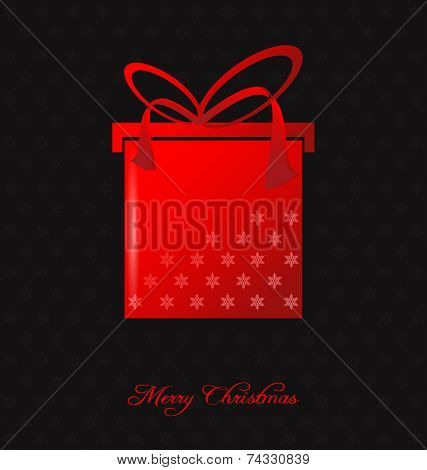 Elegant Christmas Background With Christmas Gift