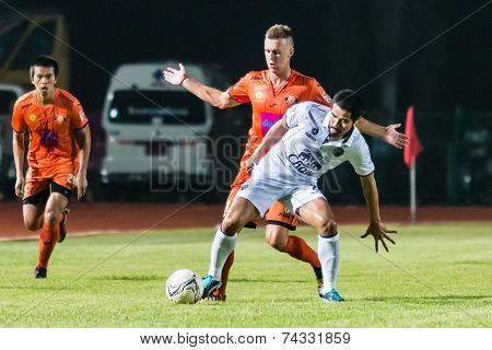 Sisaket Thailand-october 15: Suree Sukha Of Buriram Utd. In Action During Thai Premier League Betwee