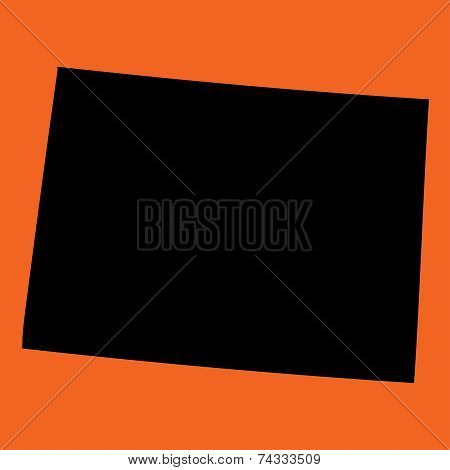 Illustration On An Orange Background Of Colorado