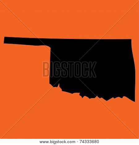 Illustration On An Orange Background Of Oklahoma