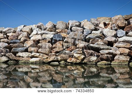 Rock Wall Protection From The Waves
