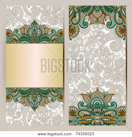 decorative label card for vintage design, ethnic pattern, antiqu