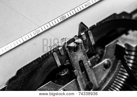 Old Typewriter - Dear Mr.
