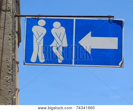 Sign Of Public Toilets, Wc Restroom