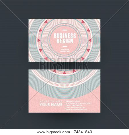 Pink Vinyl Record Design For Business Card