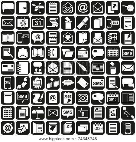 Icons Message Notebook Calendar