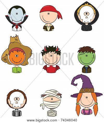 Halloween Character Avatars
