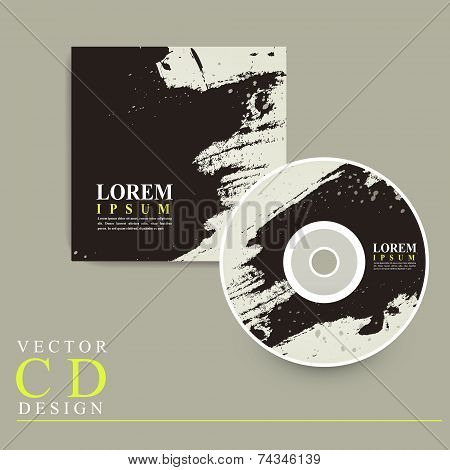 Abstract Chinese Calligraphy Design For Cd Cover
