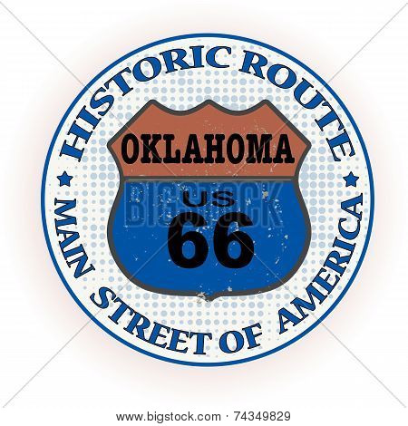Historic Route Oklahoma Stamp