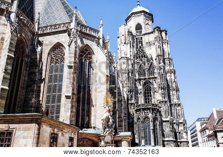 VIENNA, AUSTRIA-July 4: St. Stephen's Cathedral is the most important religious building in Vienna. Vienna on July 3, 2014.Vienna, Austria