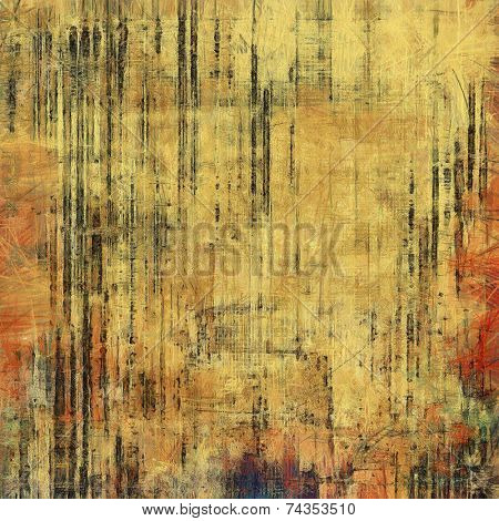 Rough vintage texture. With yellow, brown, orange, black patterns