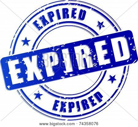 Expired Blue Stamp Icon