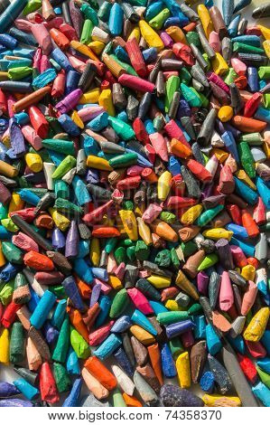 Group Of Colored Broken Pencil Lead