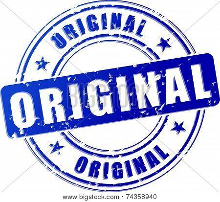 Original Blue Stamp