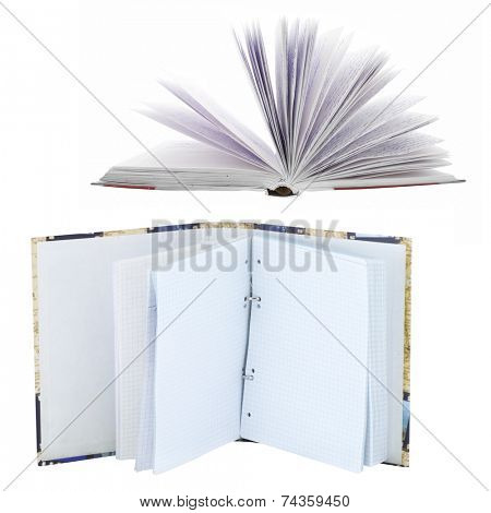 The image of notebook white the cursive in it