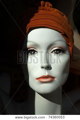 Face of a mannequin