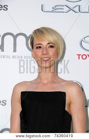 LOS ANGELES - OCT 18:  Karine Vanasse at the 2014 Environmental Media Awards at Warner Brothers Studios on October 18, 2014 in Burbank, CA