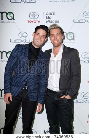 LOS ANGELES - OCT 18:  Lance Bass at the 2014 Environmental Media Awards at Warner Brothers Studios on October 18, 2014 in Burbank, CA