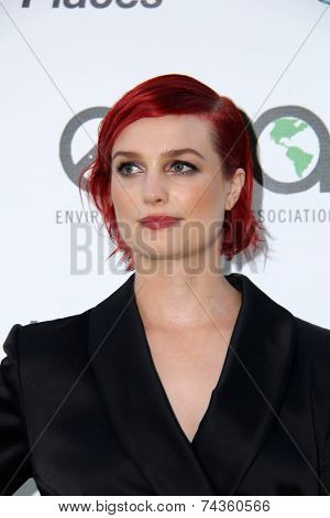 LOS ANGELES - OCT 18:  Alison Sudol at the 2014 Environmental Media Awards at Warner Brothers Studios on October 18, 2014 in Burbank, CA