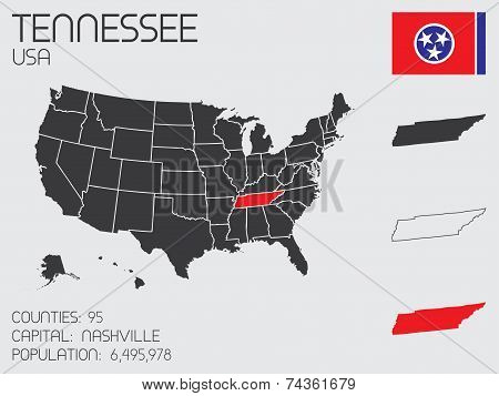 Set Of Infographic Elements For The State Of Tennessee